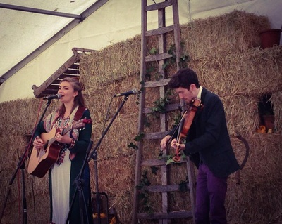 Rosie Hodgson and Rowan Piggott Folk Singers Fiddle Guitar The Wilderness Yet