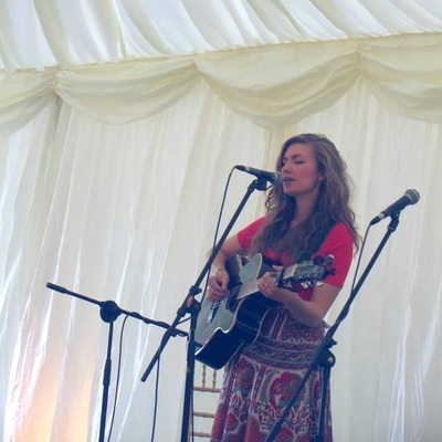 Rosie Hodgson and Rowan Piggott Folk Singers Fiddle Guitar The Wilderness Yet Tent